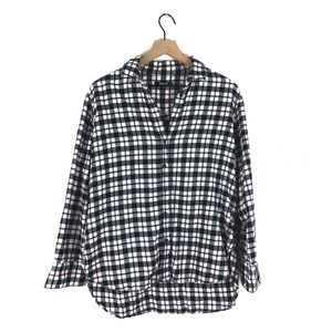 Madewell Oversized Plaid Side Button Shirt